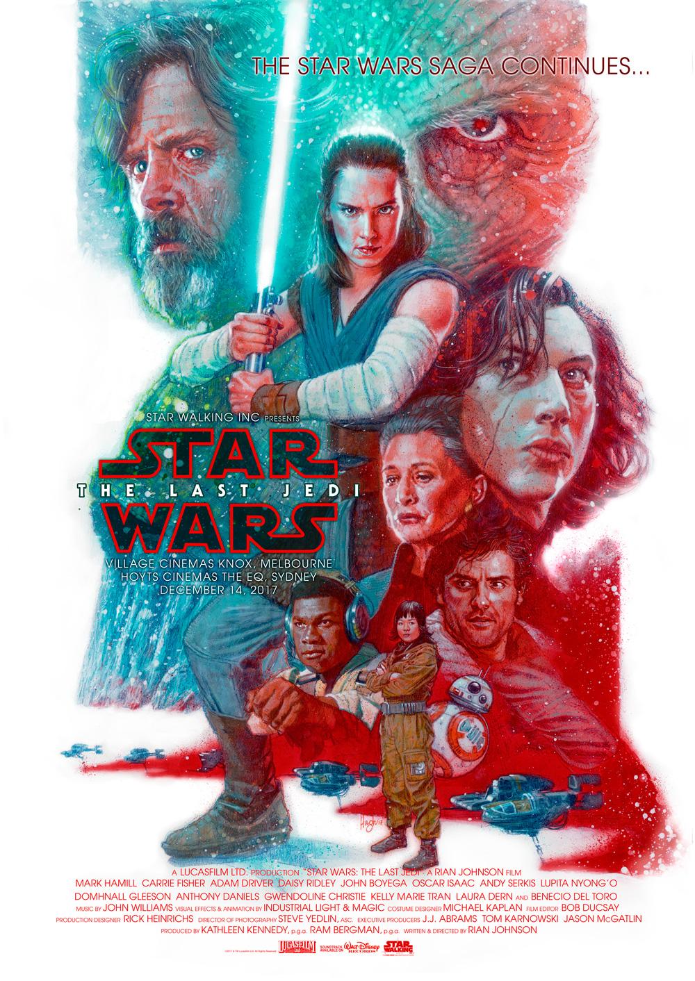 Hugh Fleming - The Last Jedi Poster