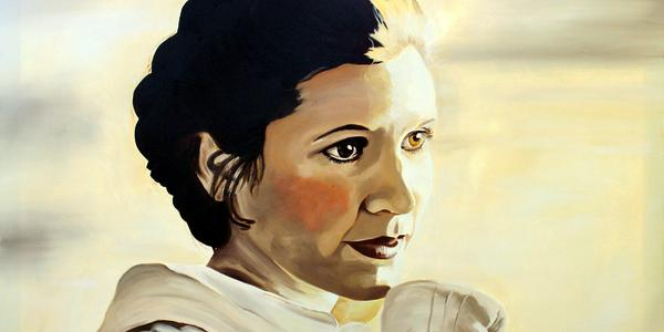 Carrie Fisher painting