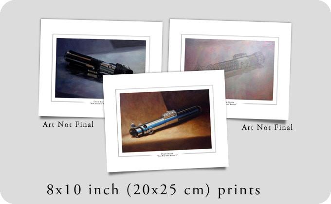 Drew Baker Lightsaber Prints