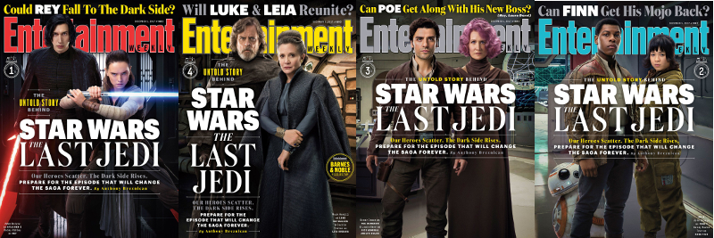 Entertainment Weekly The last Jedi Magazine Cover