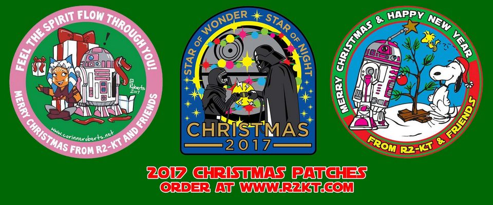 R2-KT Christmas patches