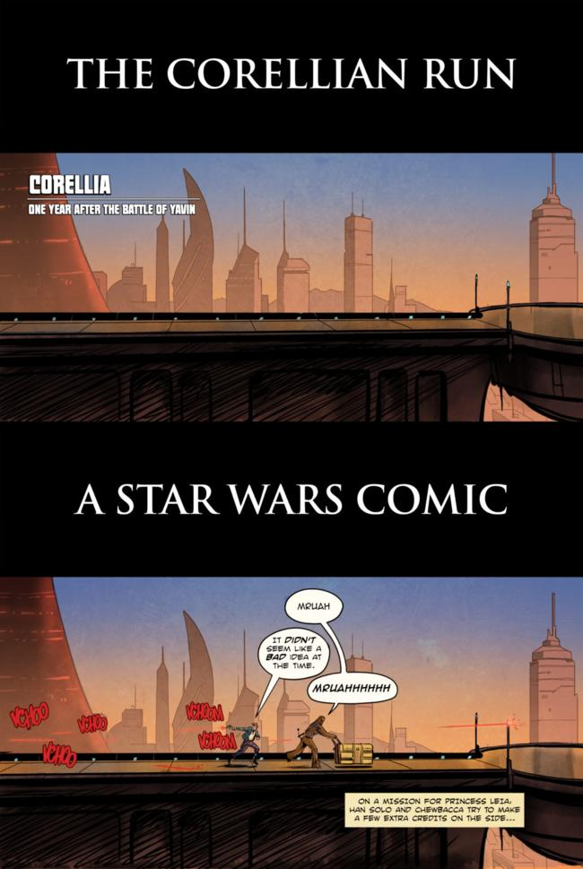 A STAR WARS COMIC