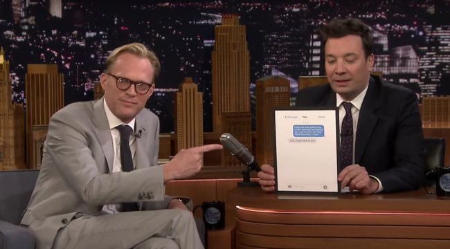 Paul Bettany Tells Jimmy Fallon