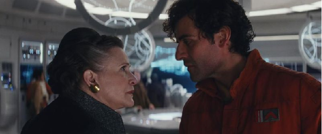 Leia and Poe The Last Jedi