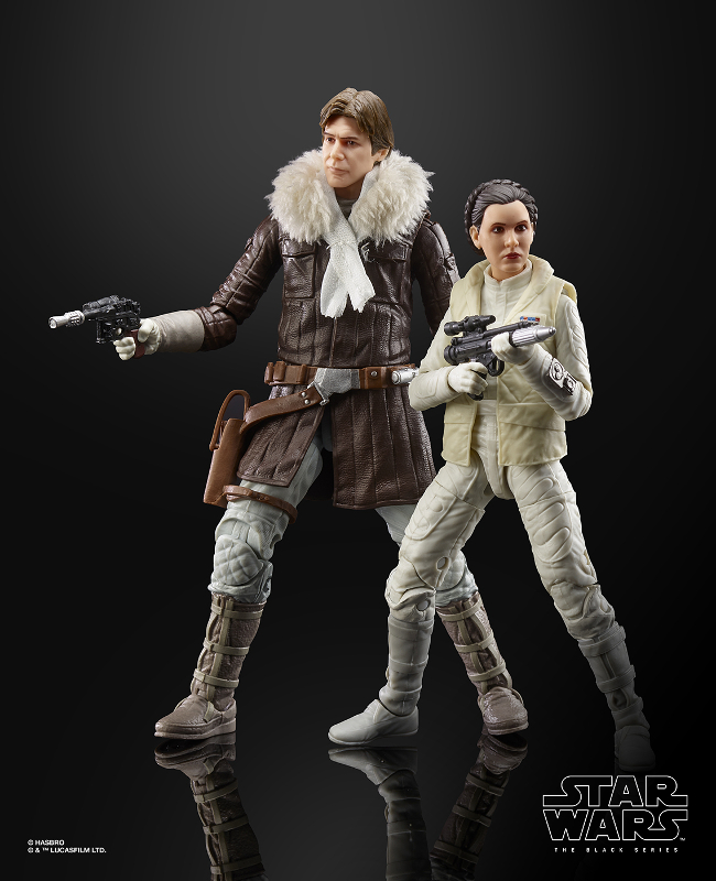 STAR WARS: THE BLACK SERIES HAN SOLO AND PRINCESS LEIA ORGANA