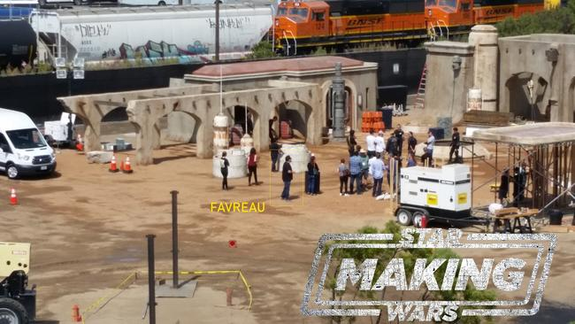LIVE ACTION STAR WARS SET IMAGE
