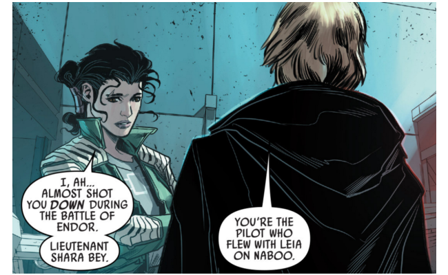 Shara Bey Meets Luke Skywalker