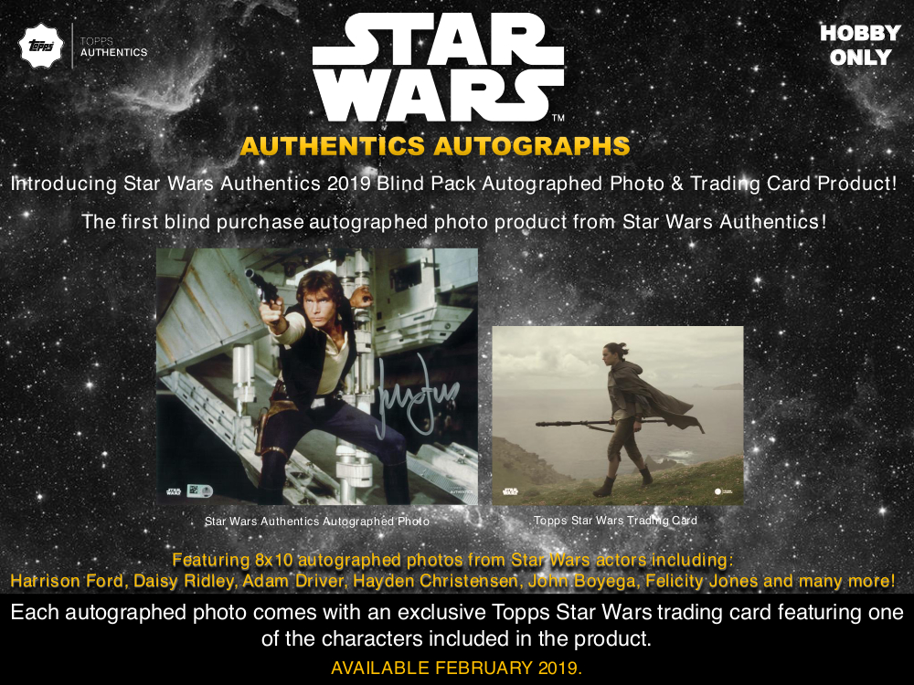 Star Wars Authentics 2019 Blind Pack Autographed Photo