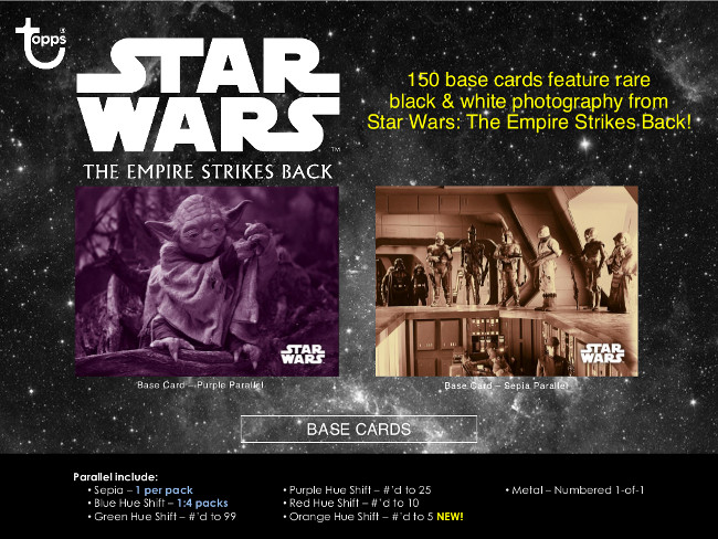 TOPPS STAR WARS BLACK AND WHITE