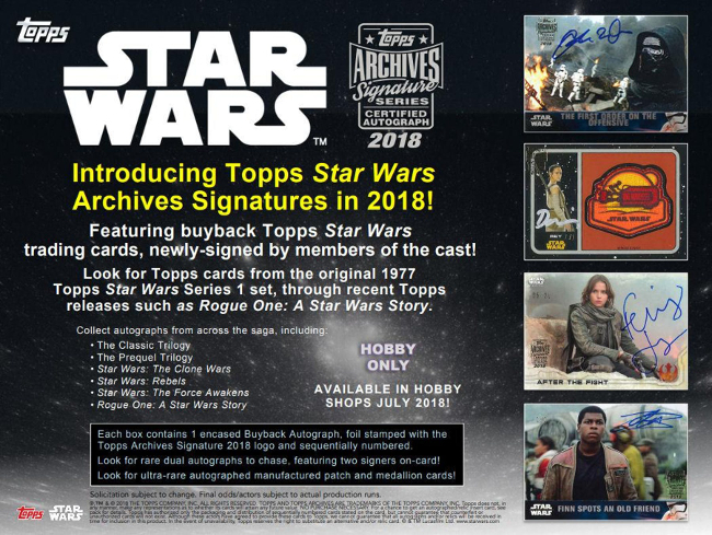 TOPPS STAR WARS SIGNATURE SERIES