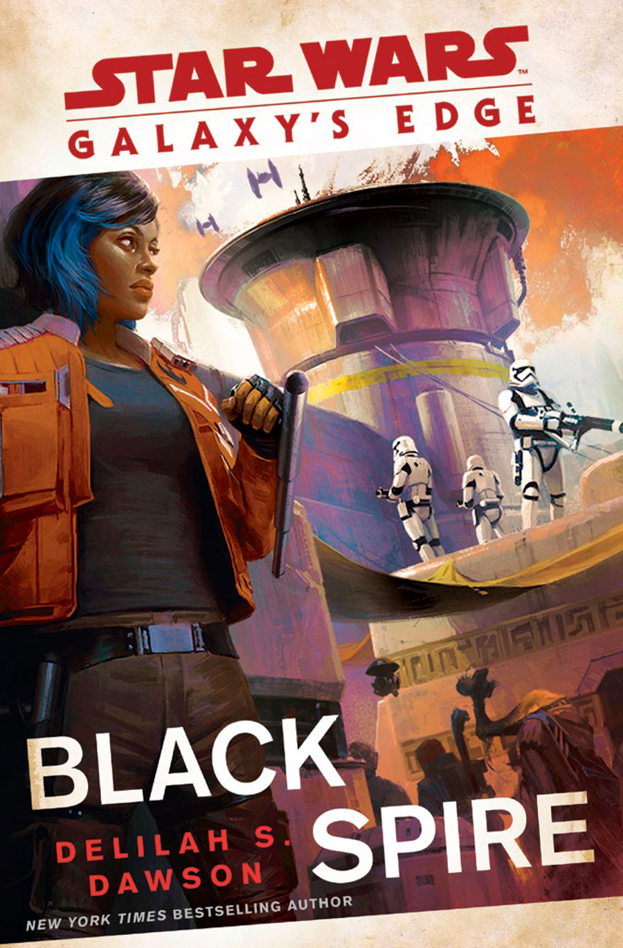 Galaxy's Edge: Black Spire Book Cover Delilah S Dawson