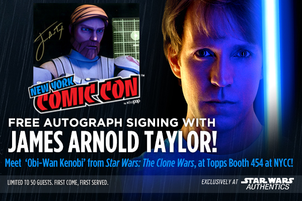 Meet James Arnold Taylor With Star Wars Authentics At New York Comic Con