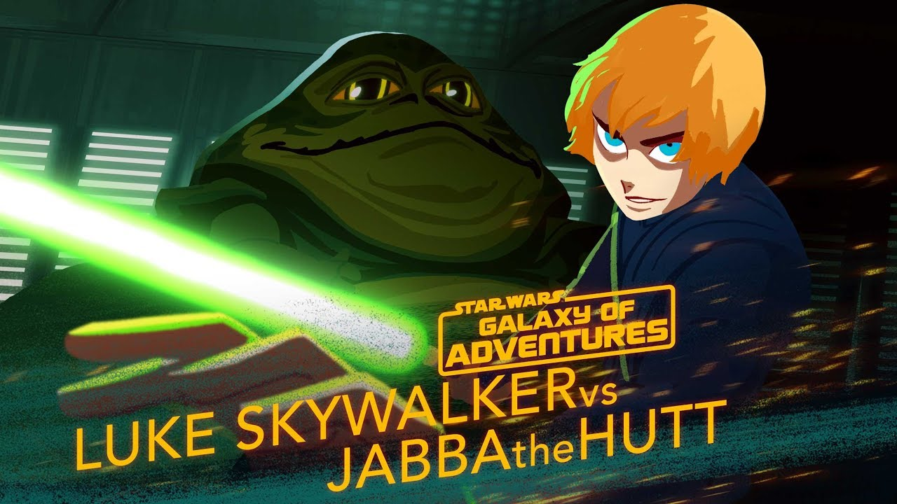Luke vs Jabba Sail Barge Escape Star Wars Galaxy of Adventures