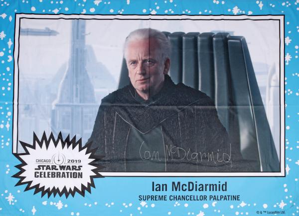 Star Wars Authentics Ian Mcdiarmid Celebration Chicago Banner