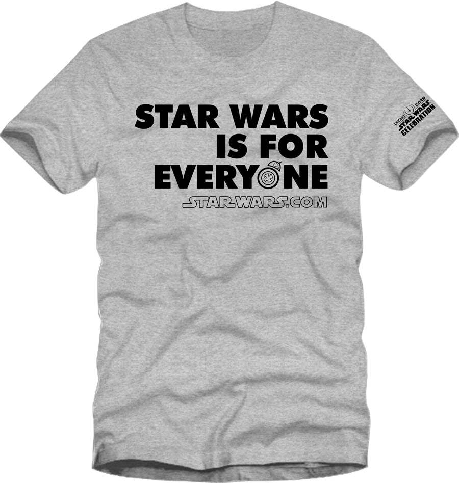 Star Wars Celebration Chicago 2019 t shirt
