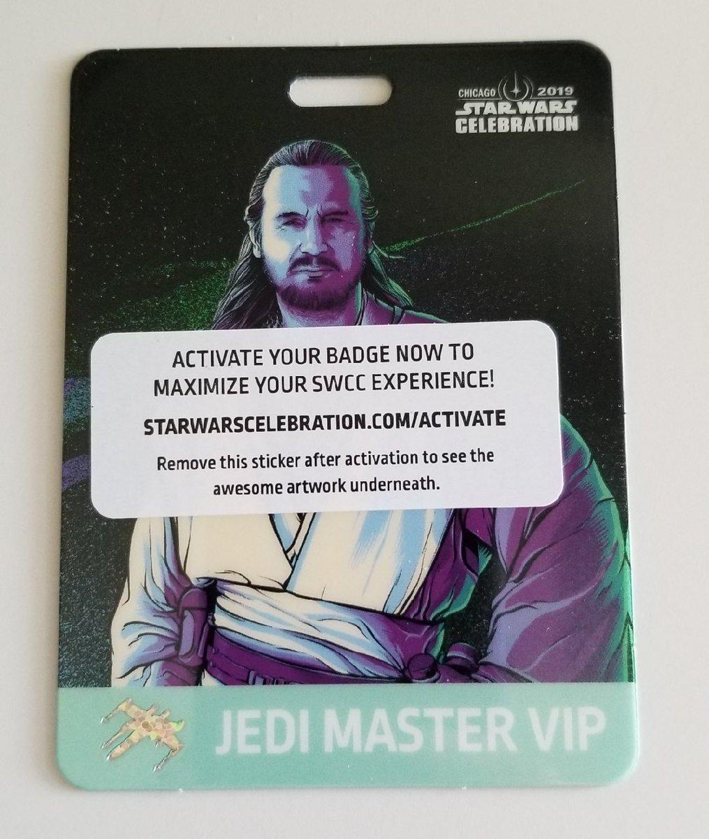 Star Wars Celebration Chicago 2019 Jedi Master Badge