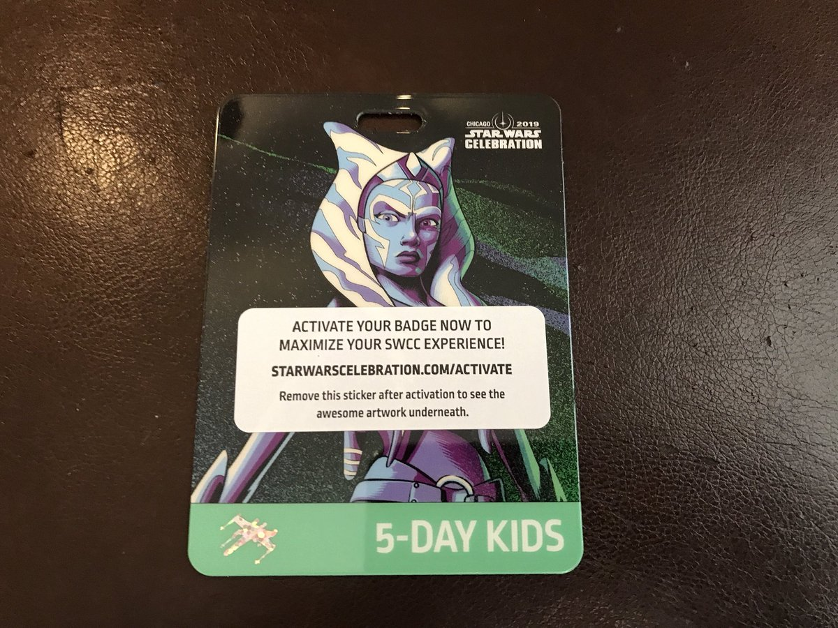 Star Wars Celebration 2019 Kids Five Day Badge Features Ahsoka