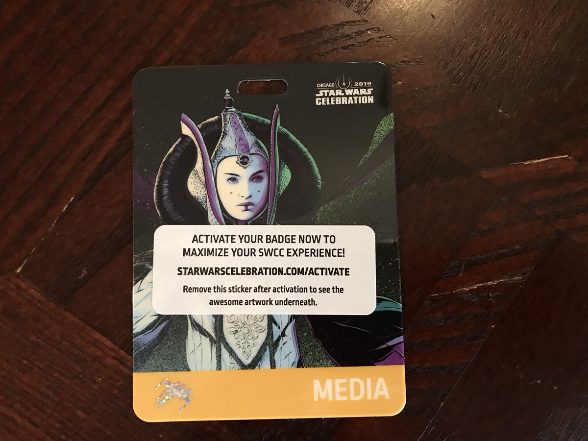 Star Wars Celebration 2019 Media Badge Features Queen Amidala