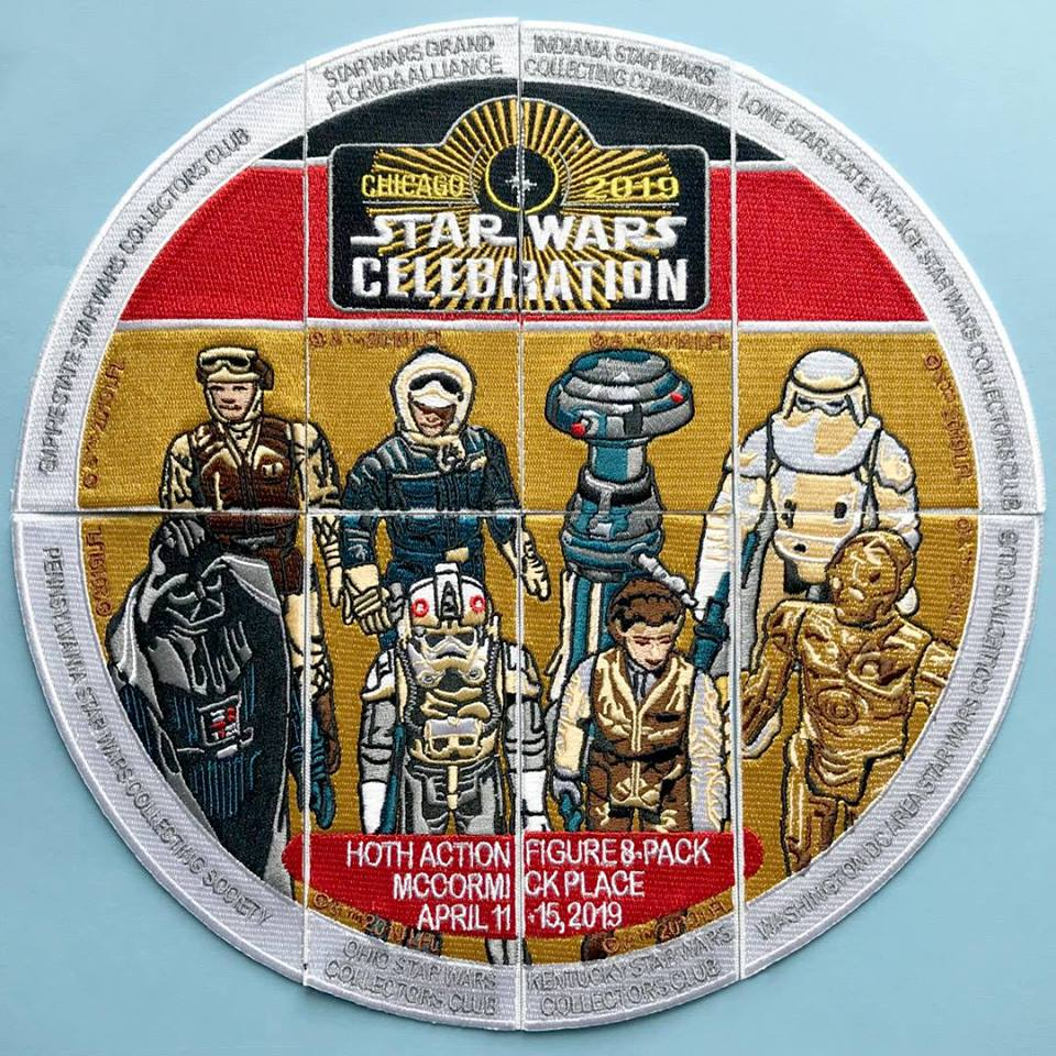 Star Wars Celebration Chicago Eight Piece Collector Club Patch Set