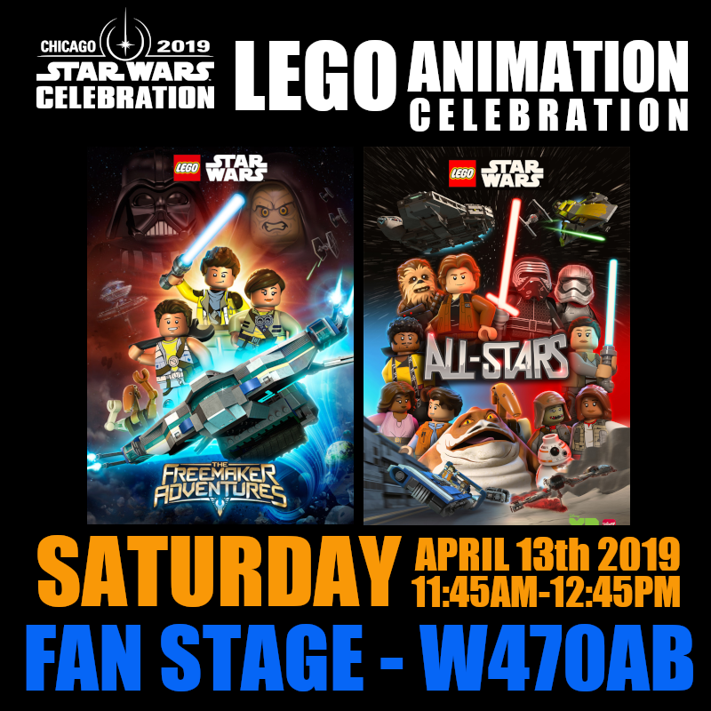 Star Wars LEGO Animation Panel Star Wars Celebration 2019 Chicago