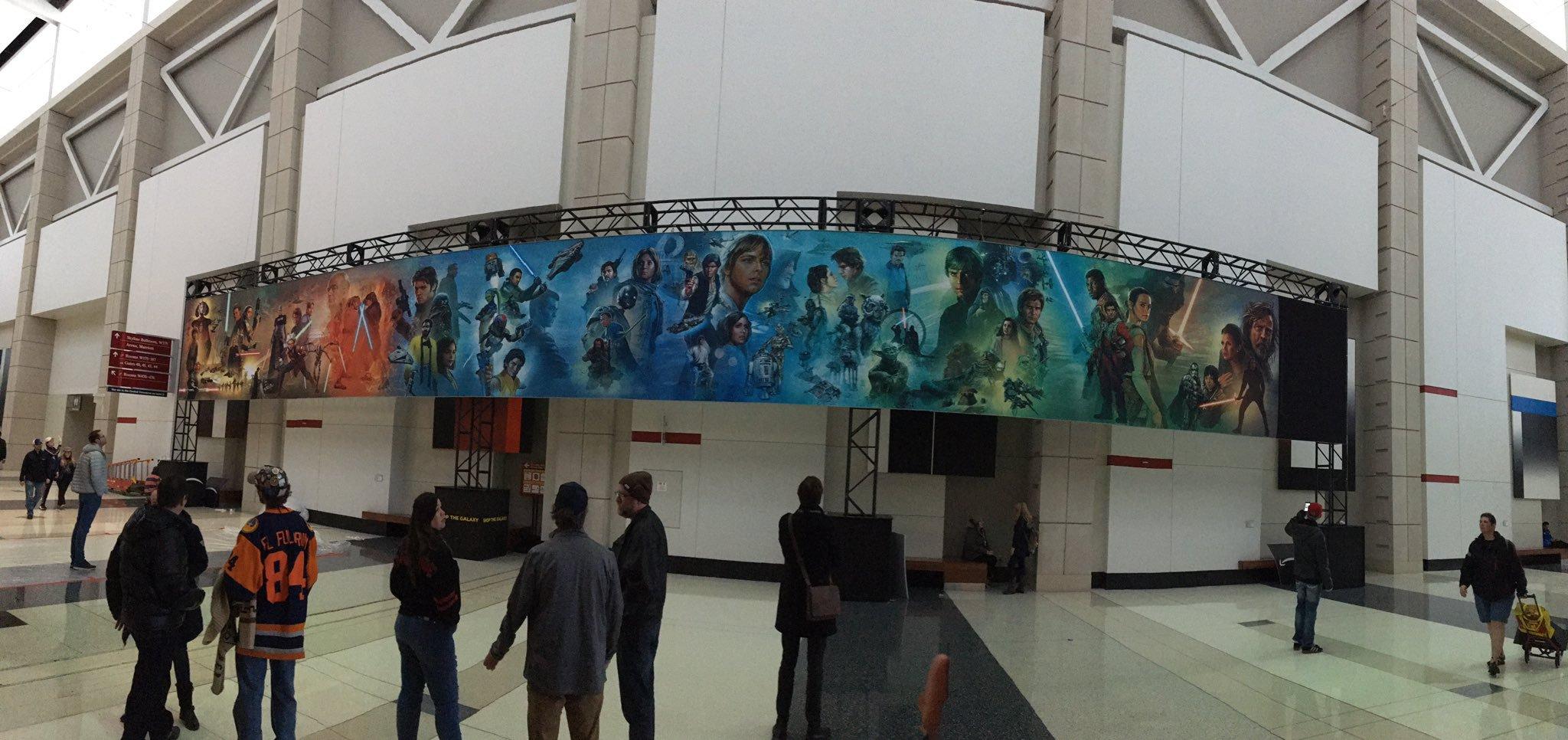 The Star Wars Saga Mural At Star Wars Celebration
