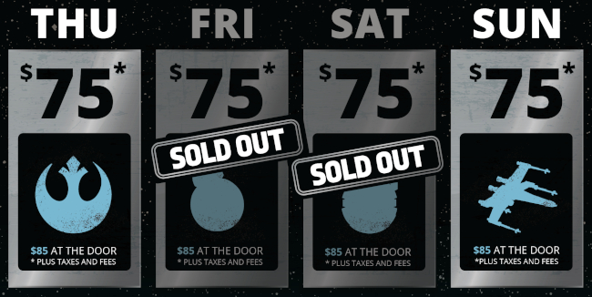Star Wars Celebration Sold Out Days