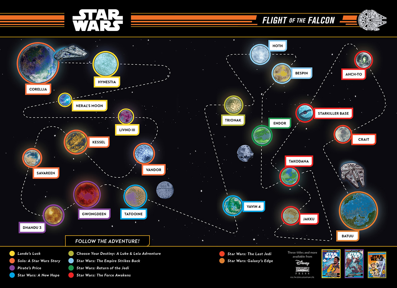 Flight of the Falcon Map