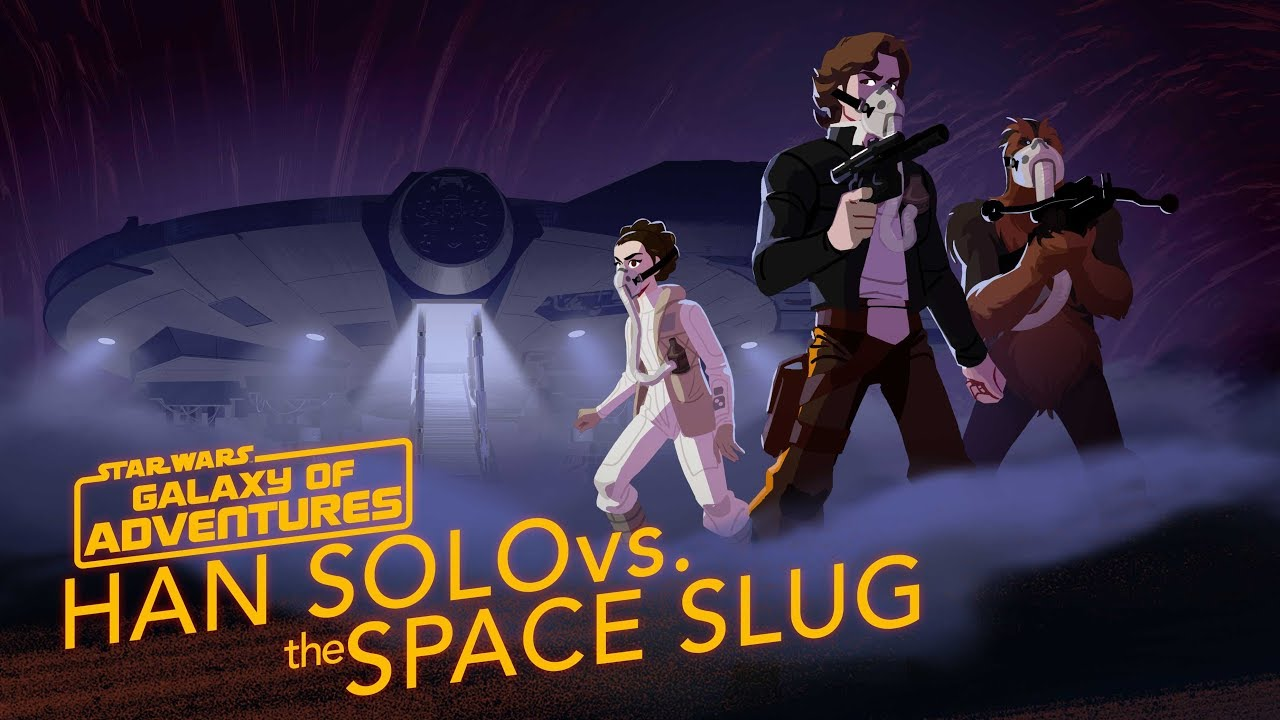 Star Wars Galaxy Of Adventures Han Solo Vs The Space Slug