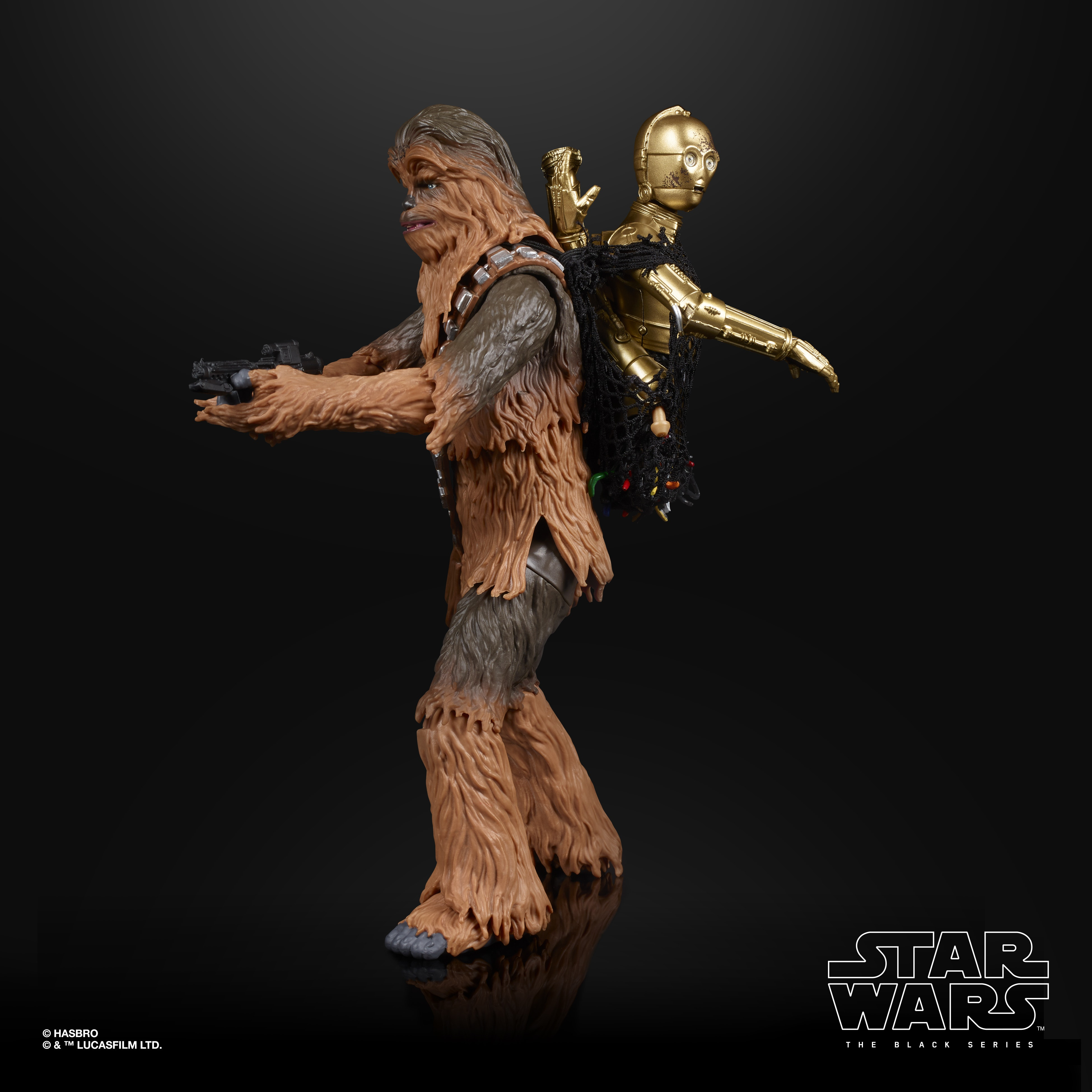 STAR WARS THE BLACK SERIES CHEWBACCA C3PO 2 PACK