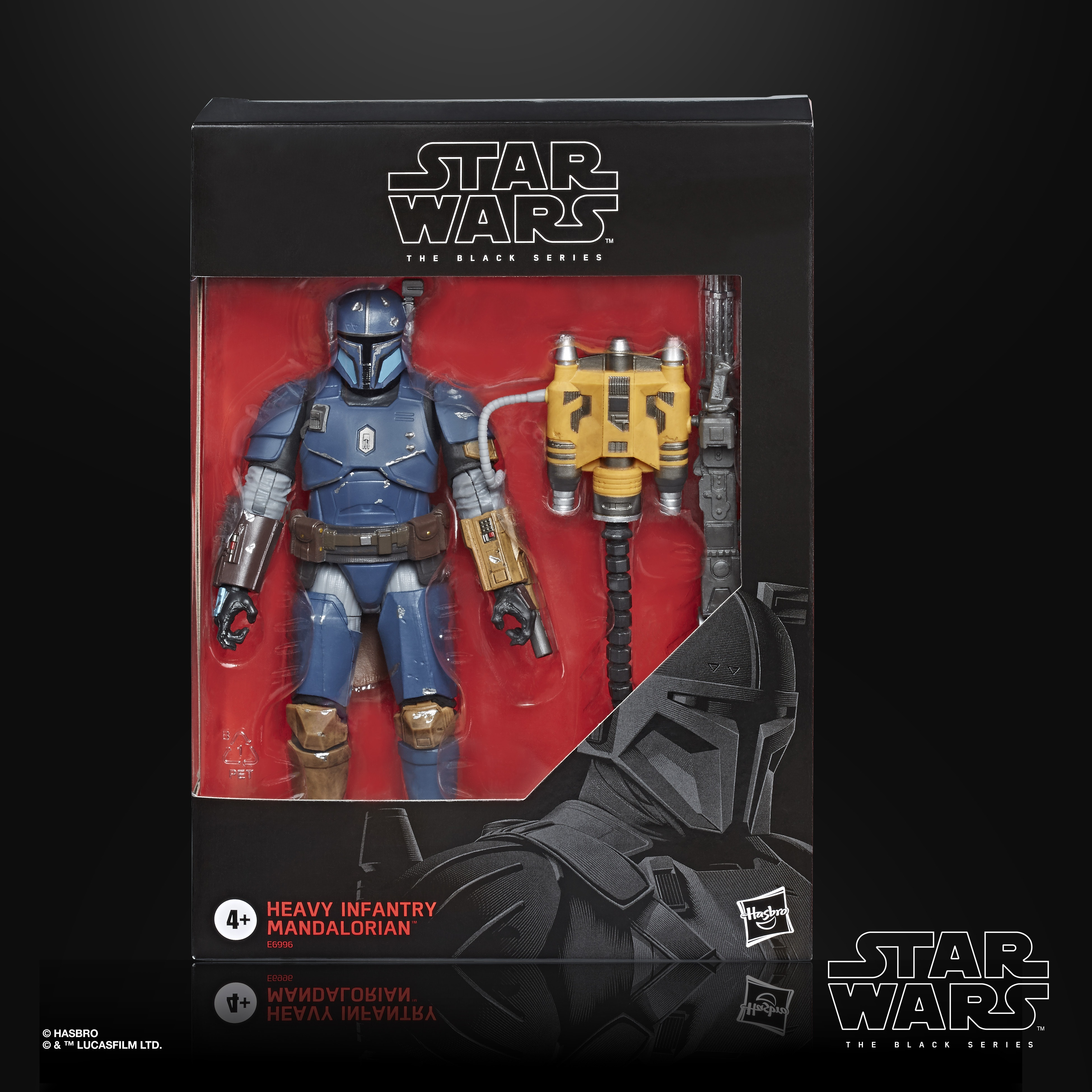 Star Wars The Black Series Six Inch Heavy Infantry Mandalorian Action Figure