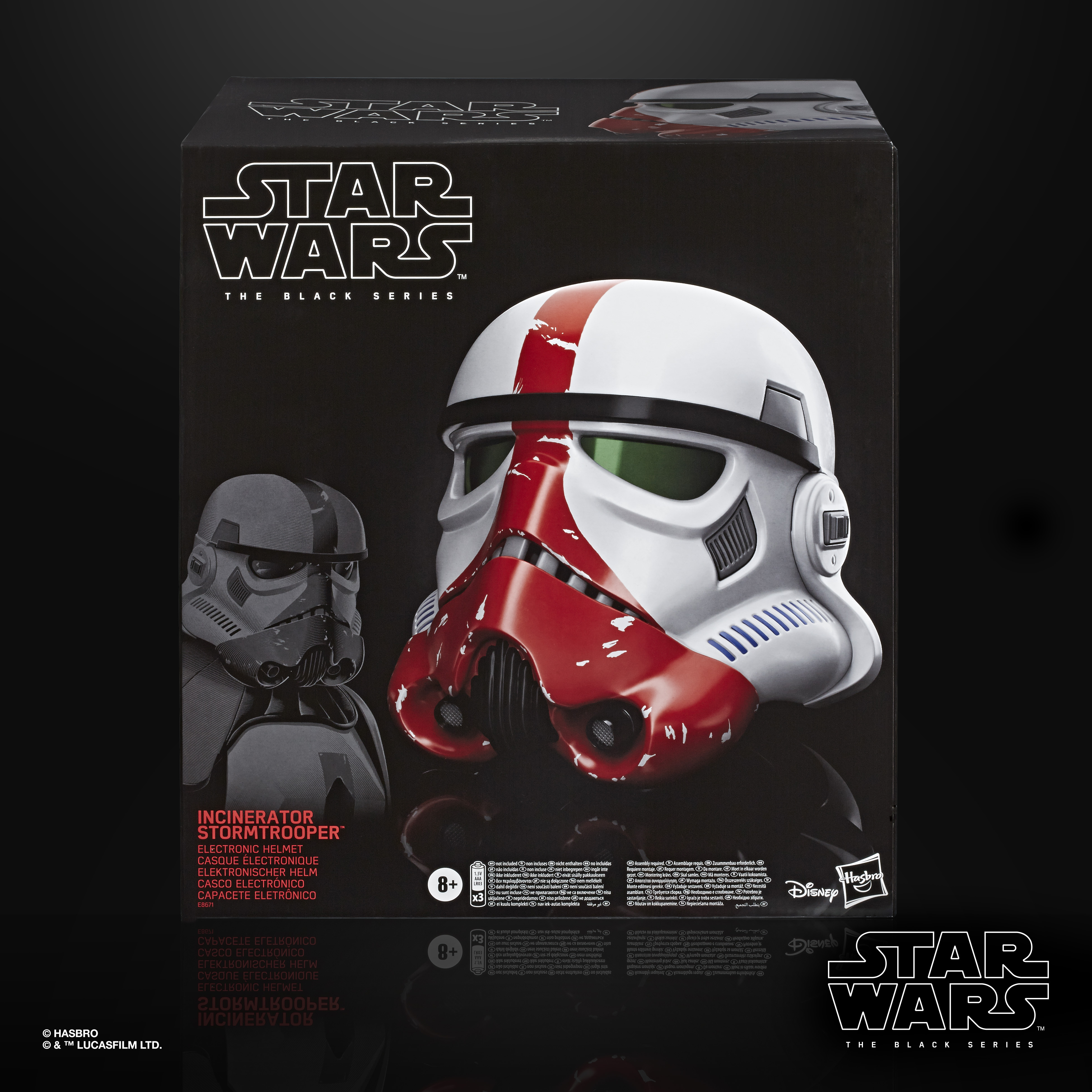 STAR WARS THE BLACK SERIES INCINERATOR STORMTROOPER PREMIUM ELECTRONIC HELMET