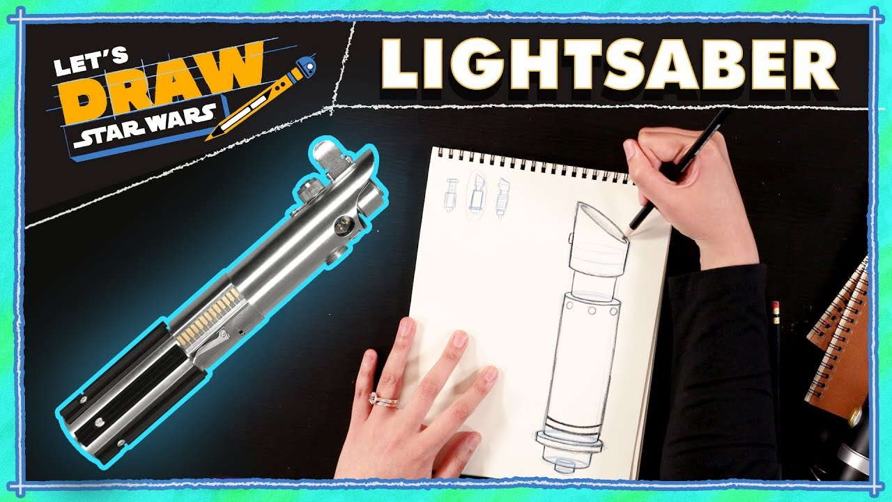drawing star wars lightsaber