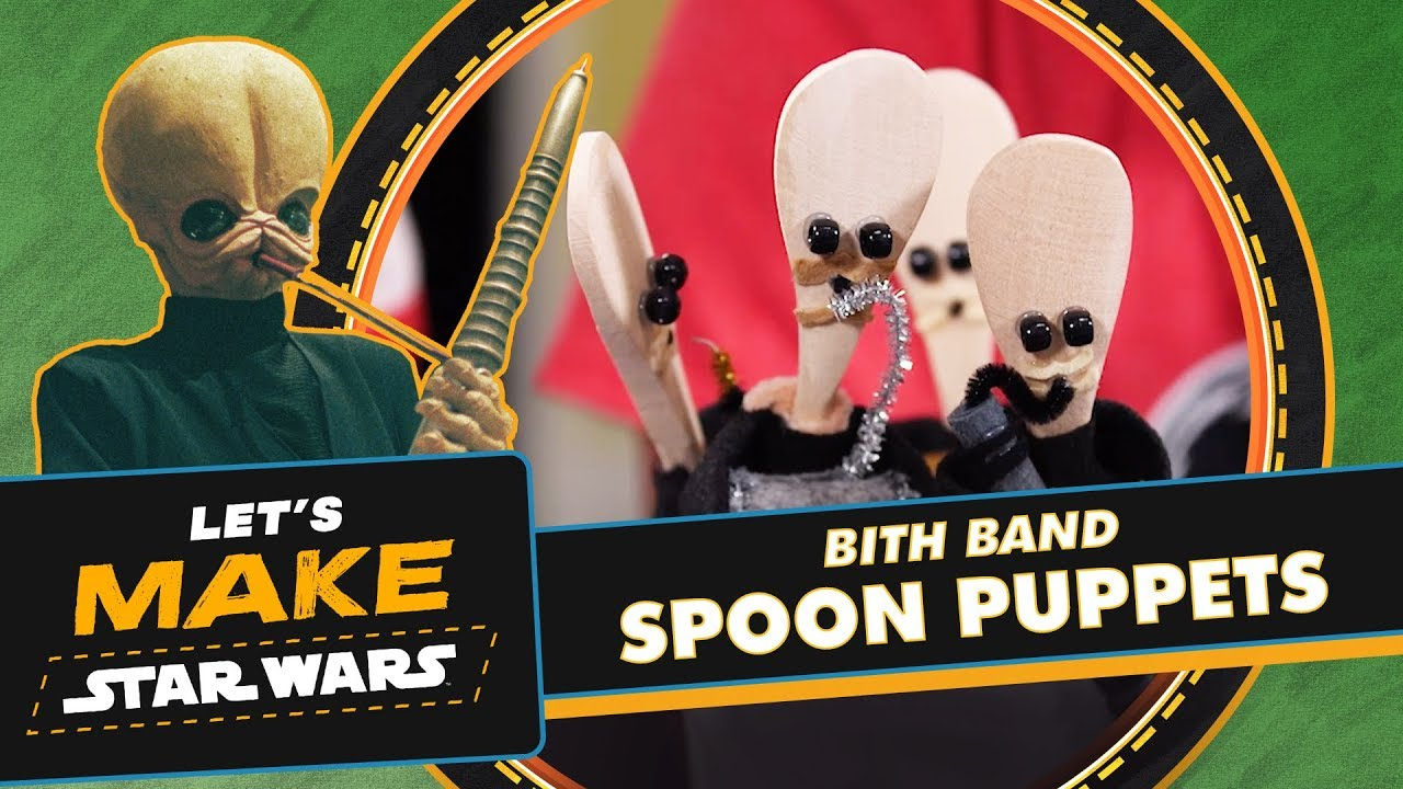 How To Make Cantina Band Spoon Puppets
