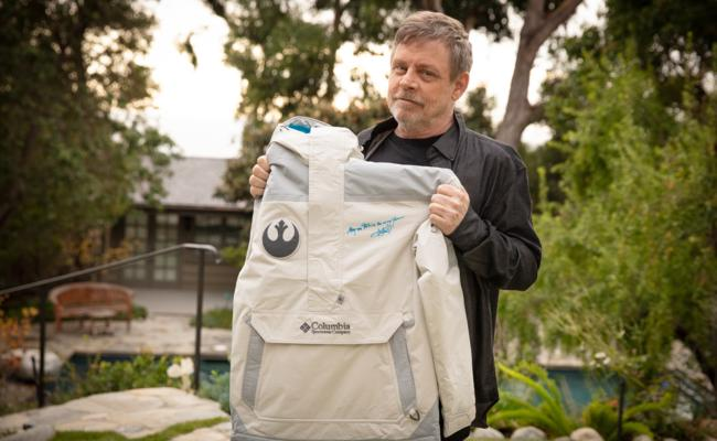 Mark Hamill Signs 25 Special-Edition Star Wars Jackets For Columbia Sportswear