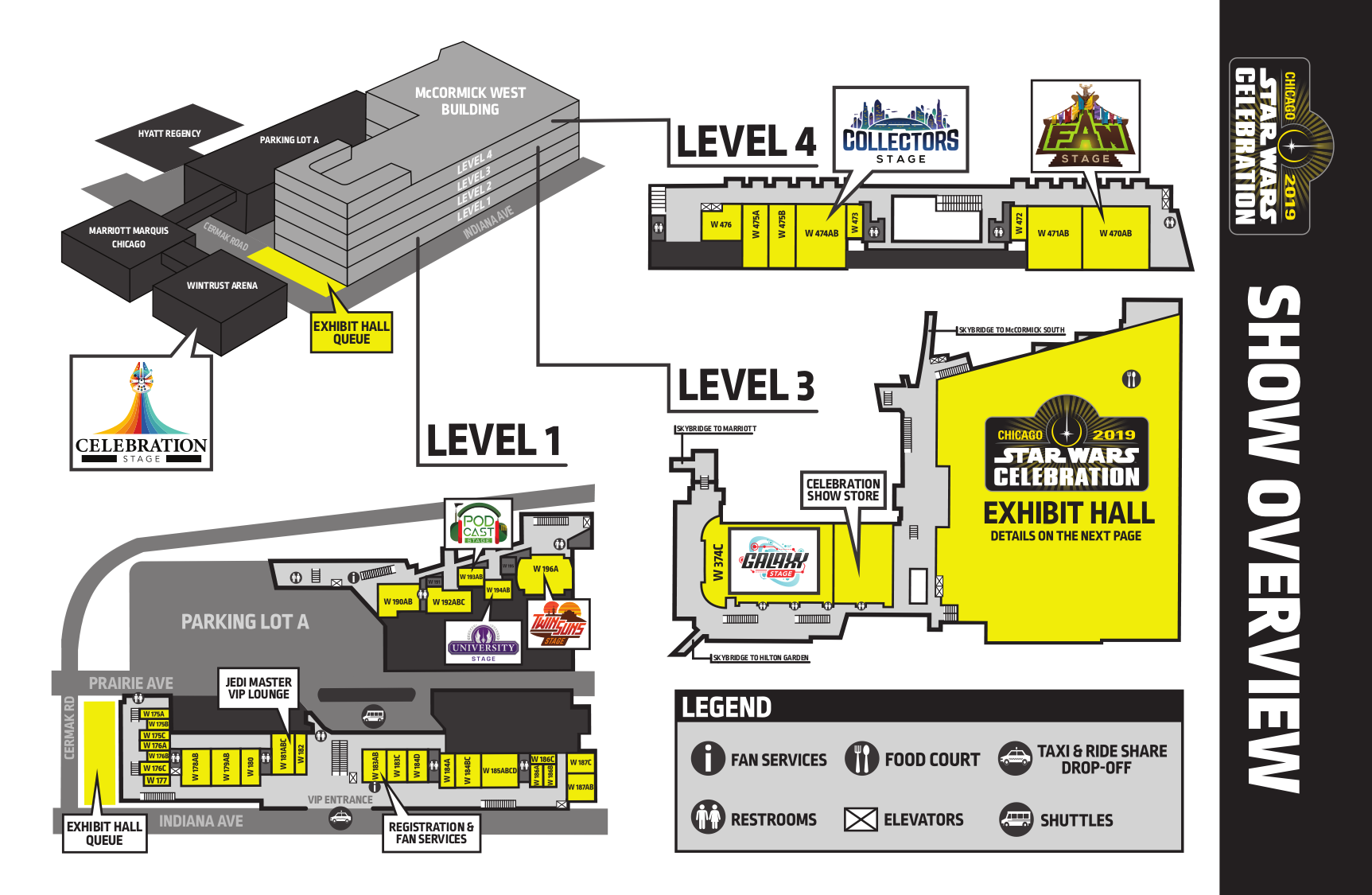 Star Wars Celebration Chicago 2019 Show Overview Map