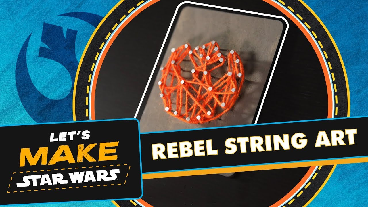 Star Wars Rebel Alliance Symbol String Craft