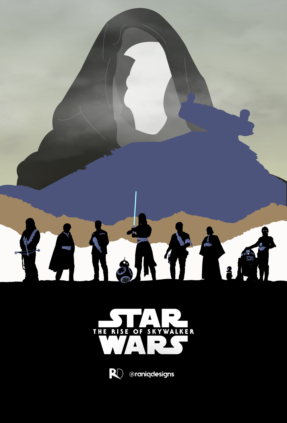 star wars the rise of skywalker art by Aniq