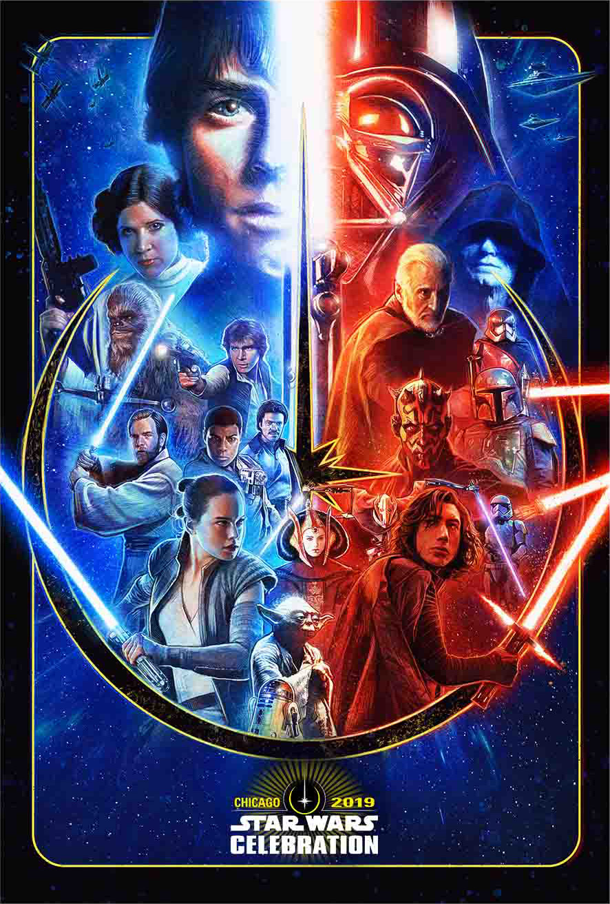 Star Wars Celebration Chicago Poster