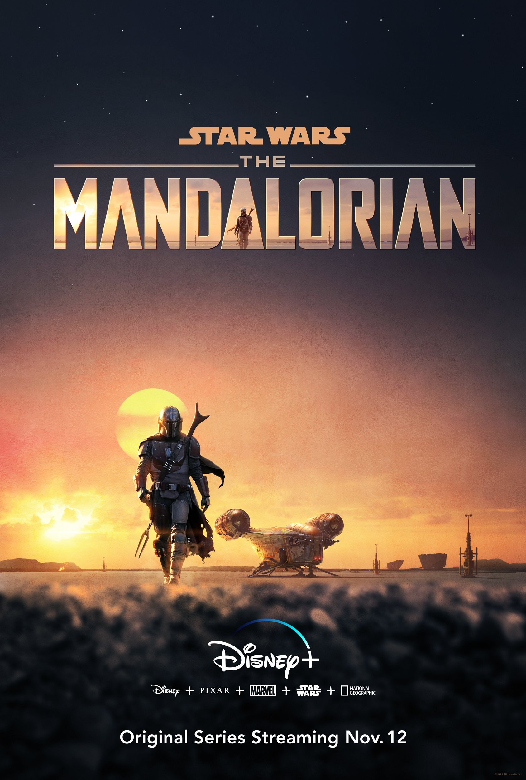 The Mandalorian Disney plus poster
