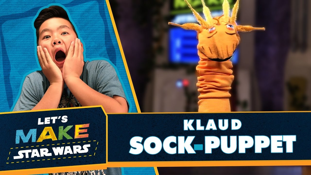 Lets Make Star Wars How To Make A Klaud Sock Puppet