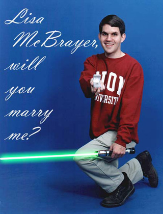 Who says that a  Jedi Knight shall not know love?