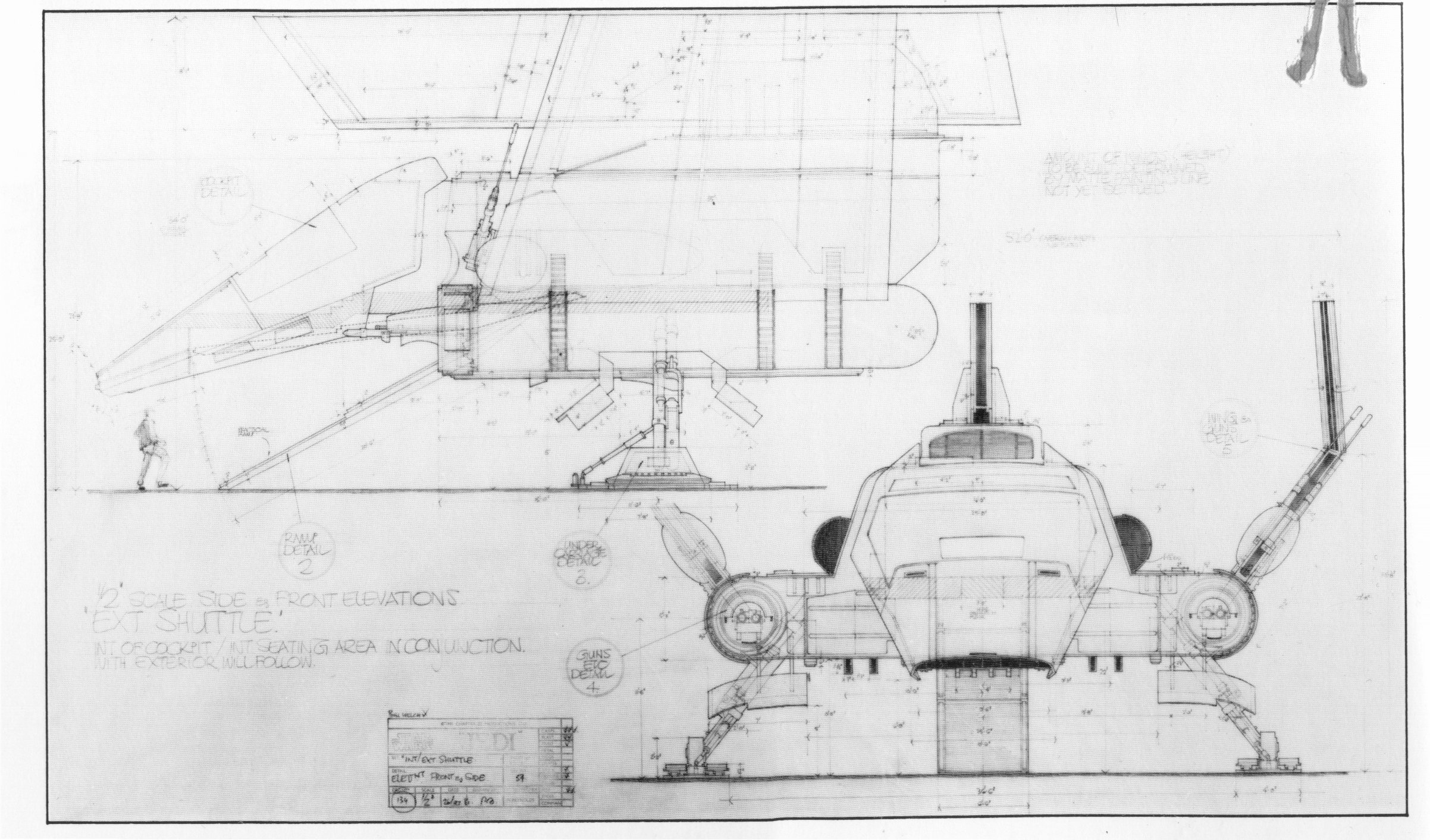 star wars lambda class shuttles exterior set blueprints