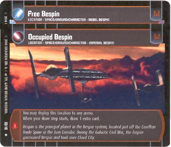 Free Bespin - #50 - Uncommon == Occupied Bespin - #60 - Uncommon