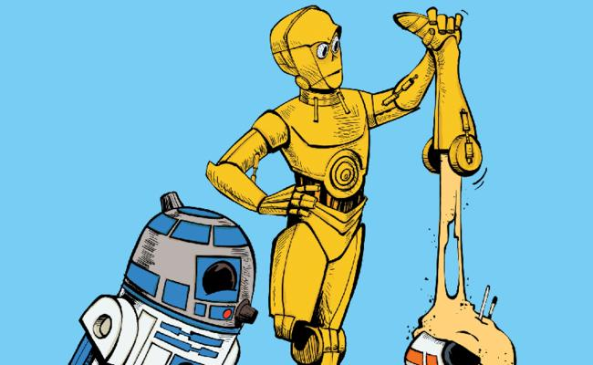 C3PO does not like sand
