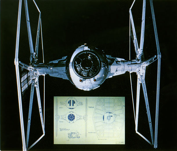 STAR WARS: TIE Fighters on tie advanced, tie phantom, y-wing schematic,